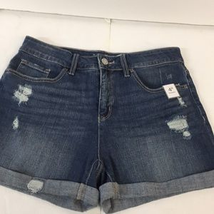 NWT Time and Tru Jean Shorts Size 12 Women's